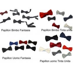 PAPILLON UOMO TINTA UNITA