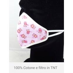 MASCHERINA BIMBO 100% COTONE CON FILTRO TNT