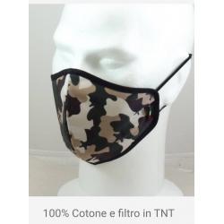 MASCHERINA MIMETICA 100% COTONE CON FILTRO TNT