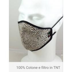 MASCHERINA DONNA  100% COTONE CON FILTRO TNT