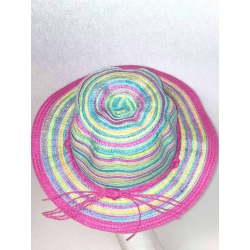 CAPPELLO BAMBINA ESTIVO RIGHE MULTICOLORE